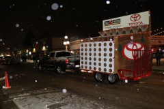 The Giant Connect Four Game in the Christmas Parade