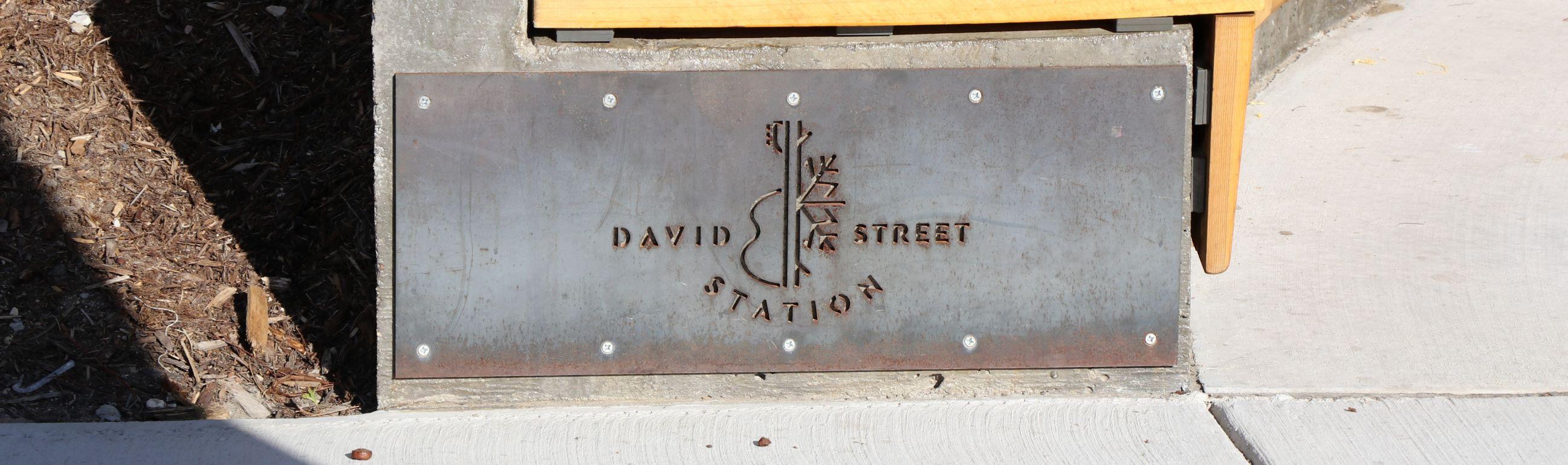 David Street Station Plaque